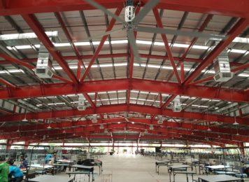 Giải pháp thông gió làm mát cho nhà xưởng bằng quạt công nghiệp HVLS Emaxx