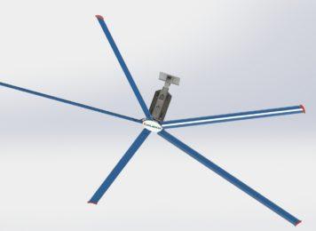 Quạt trần công nghiệp HVLS – Tặng ngay 1 máy làm mát di động