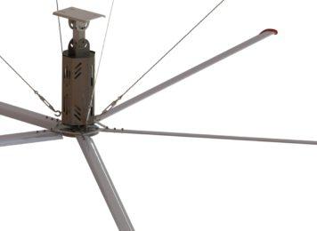 Nguyên lý làm mát của quạt HVLS Emaxx sải cánh dài công nghiệp